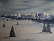 A Cold Winter Slope Print by John Koehler