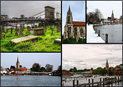 Marlow Prints - A collage of All Saints Marlow Print by Chris Day