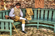 Colonial Man Digital Art Prints - A Colonial Gentleman At Rest Print by Robert Nelson
