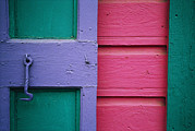 Hardware Photos - A Colorful Door Painted In Pastel by Raul Touzon