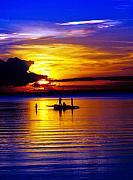 James Bo Insogna Prints - A Colorful Golden Fishermen Sunset Vertical Print Print by James Bo Insogna