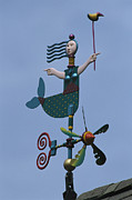Mermaids Photos - A Colorful Mermaid Shaped Weather Vane by Darlyne A. Murawski