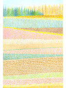 Rural Scenes Digital Art - A Colorful Pattern Created From Fields For Harvest by Yuri Horikawa