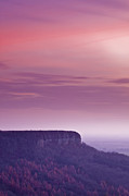 Sutton Photos - A Colourful Sunset Over Sutton Bank by Julian Elliott Ethereal Light