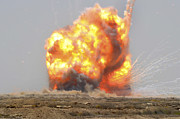 Explosive Framed Prints - A Controlled Detonation Is Set Framed Print by Stocktrek Images