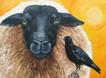Ewe Prints - A Conversation with Lilith Print by Laura Carey