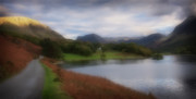 Braken Framed Prints - A Corner Of Crummock Water Framed Print by Anthony Dudley