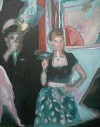 Aleksandra Buha - A couple at a Party