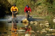 Creeks Art - A Couple Of Mountain Bikers Enter by Barry Tessman