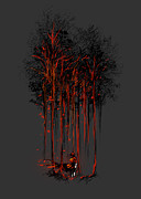 Forest Digital Art Posters - A crimson retaliation Poster by Budi Satria Kwan
