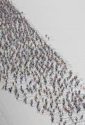 Crowds  Prints - A Cross Country Ski Marathon Print by Melissa Farlow