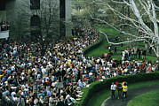 Keeneland Framed Prints - A Crowd Gathers Around Keenelands Framed Print by Melissa Farlow