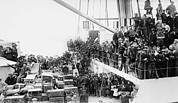 Passenger Liners Prints - A Crowd Of European Immigrants Print by Everett