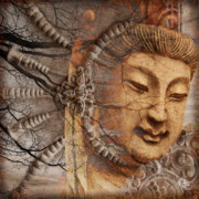 Buddha Art Mixed Media Framed Prints - A Cry Is Heard Framed Print by Christopher Beikmann