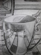 Chair Drawings Originals - A Cup of Reflections by Stella Sherman