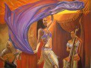 Dancer Pastels Originals - A Dance for Country Fair by Brandi York