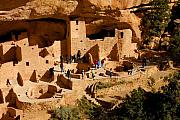 Native American Dwellings Prints - A day at Mesa Verde Print by David Lee Thompson