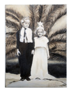 Black And White Photography Painting Metal Prints - A day at the ball  Metal Print by Lynda McLaughlin