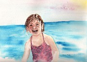 Mick Painting Originals - A Day at the Beach Makes Everyone Smile by Sharon Mick