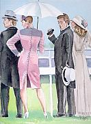 Dresses Metal Prints - A Day At The Races Metal Print by Arline Wagner