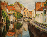 Landscape Artist Framed Prints - A Day in Brugge Framed Print by Charlotte Blanchard