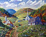 Nature Scene Paintings - A day in our Valley by Richard T Pranke