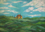 John Keaton Paintings - A Day In Tuscany by John Keaton