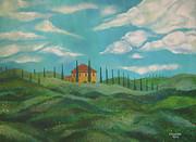 A Day In Tuscany Print by John Keaton