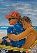 Horizon Pastels - A Day on the Beach by Katharina Filus
