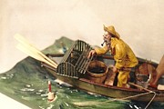Handcrafted Art - A Day Out -Cape Cod Fisherman c.1890 by Rex Stewart