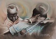 Oyoroko Ken Ochuko Paintings - A Day To Remember by Oyoroko Ken ochuko