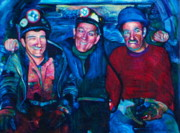 Miners Paintings - A days Work 2 by Kelly McNeil