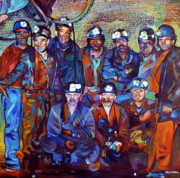Miners Paintings - A Days Work by Kelly McNeil