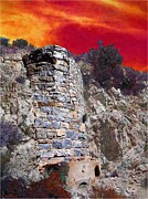 Ancient Ruins Framed Prints - A Desert Host 4  The Kiln Framed Print by Glenn McCarthy Art and Photography