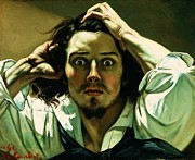 Courbet Posters - A Desperate Man Poster by Pg Reproductions