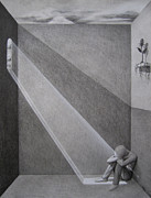 Graphite Pencil Drawings - A Different Light by Josh Nelson