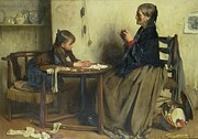 Mending Metal Prints - A Difficulty Metal Print by Arthur Hacker