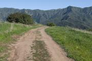 Dirt Roads Metal Prints - A Dirt Road Leading To The Santa Ynez Metal Print by Rich Reid
