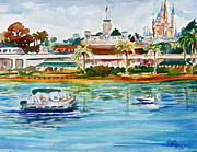 Walt Disney World Framed Prints - A Disney Sort of Day Framed Print by Laura Bird Miller