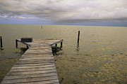 Etc. Photos - A Dock On  Cay Caulker At Sunset by Stephen Alvarez