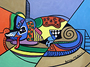 Picasso Prints - A Dog Named Picasso Print by Anthony Falbo