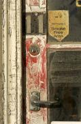 Historical Housing Prints - A Door And Peeling Paint Of Historic Print by Bill Hatcher