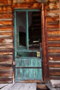 Log Cabins Photo Originals - A Door to the Past by Cynthia  Cox Cottam
