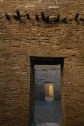 American Architecture And Art Framed Prints - A Doorway And Walls Inside Pueblo Framed Print by Bill Hatcher