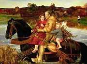 King Arthur Paintings - A Dream of the Past by Sir John Everett Millais