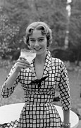 Looking At The Past Posters - A Drinking Dress Poster by Kurt Hutton