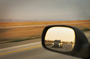 Car Window Framed Prints - A Drivers View Of The Car Framed Print by Alan Majchrowicz