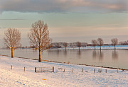 Winter Landscape Art - A Dutch waterscape in the afternoon sun by Ruud Morijn