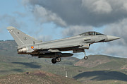 Spanish Air Force Prints - A Eurofighter Typhoon Of The Spanish Print by Giovanni Colla