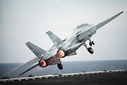 Carrier Prints - A F-14a Tomcat Aircraft Is Launched Print by Stocktrek Images